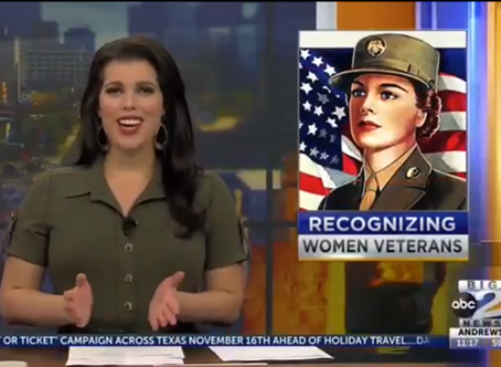 Amanda Mason - Big 2 News Permian Basin - Recognizing and Connecting Women Veterans