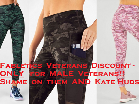Fabletics Veteran Discount - Only available to MALE veterans!