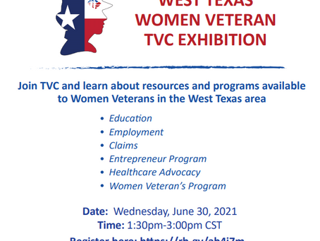 Texas Women Veterans Resources and Programs Event - June 30th
