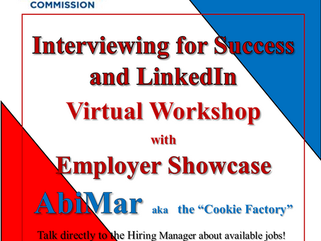 Interview and LinkedIn Workshop with Employer Showcase Virtual Event
