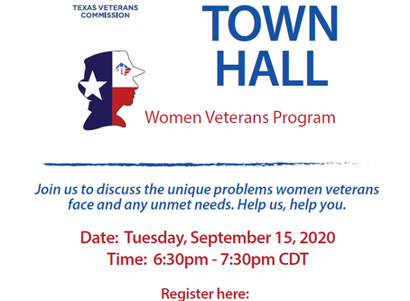 Texas Women Veterans Virtual Town Hall