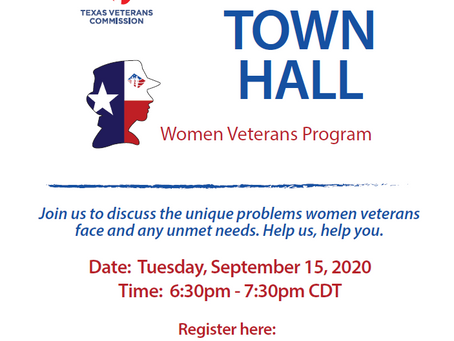 Texas Women Veterans Virtual Town Hall