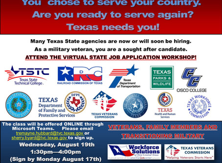 Texas State Agency Job Application Workshop