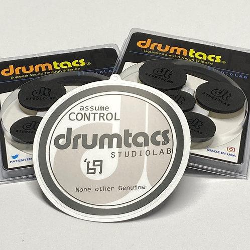 2  5packs Original Neo-Black PLUS free Drumtacs Official Gear Badge Decal