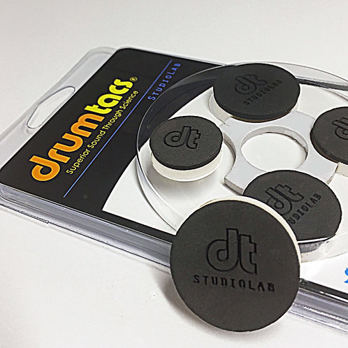 Drumtacs Multi-Sized 5 pack Original Neo-Black Plus free Gear Badge