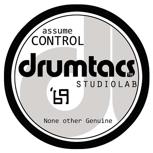 Drumtacs Official Gear Badge-Adhesive Vinyl Decal