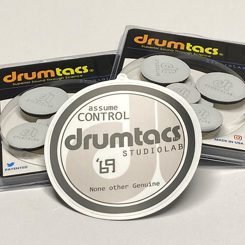 2  5packs 'Ghosted' PLUS free Official Drumtacs Gearbadge Decal