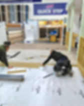 Showroom flooring