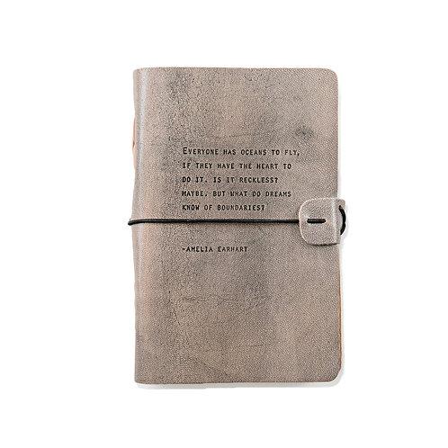 Amelia Earhart Artisan Leather Journal