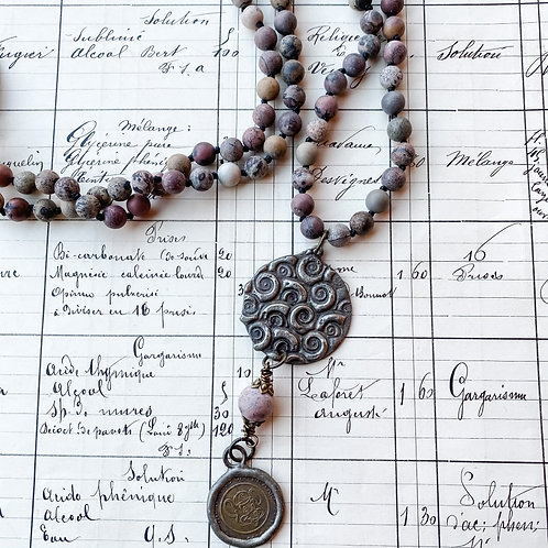 Art by Amy Stone + Metal Necklace
