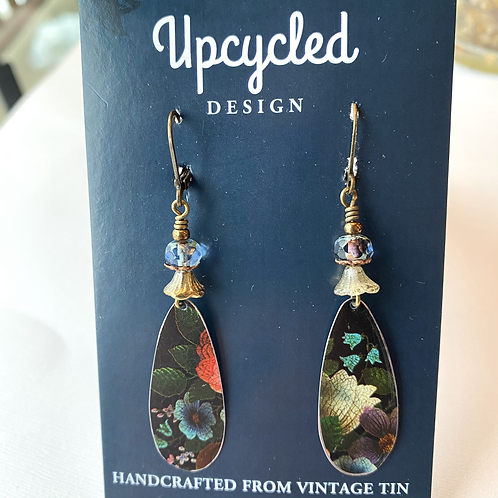 Upcycled Design Vintage Tin Earrings