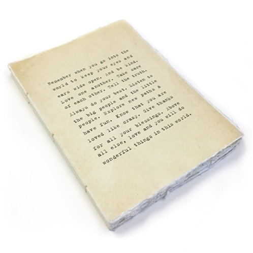 Large Remember When Deckled Edge Notebook