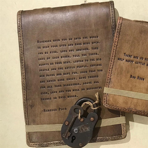 Large Remember When Leather Journal