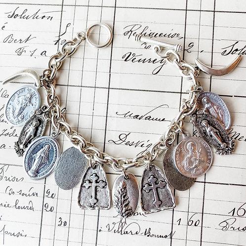Medal Bangle Bracelet