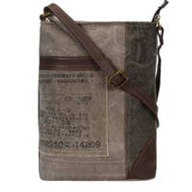 Identified Up-Cycled Canvas Crossbody (Charcoal)