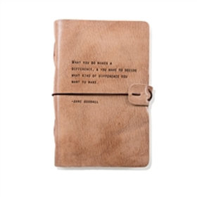 Jane Goodall Artisan Leather Journal