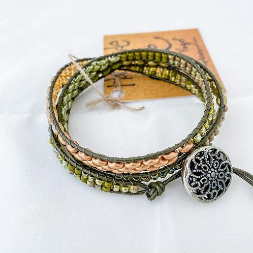 Sweet Bay Handmade Beaded Triple Wrap Bracelet