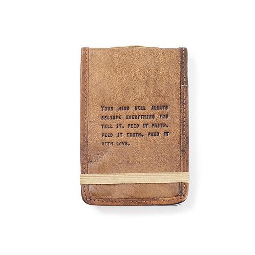 Mini Faith, Truth & Love Leather Journal