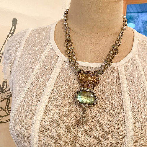 Crowned Labradorite Necklace