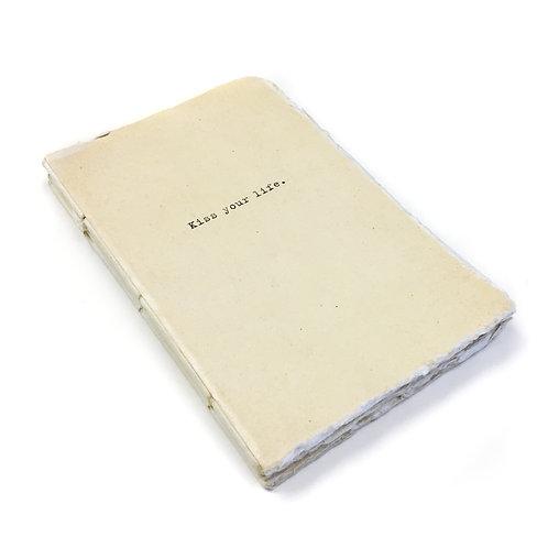 Medium Kiss Your Life Deckled Edge Notebook