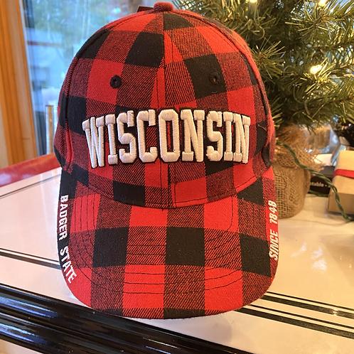 Wisconsin Buffalo Plaid Cap