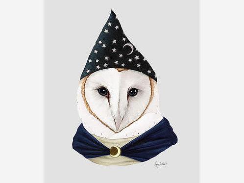 Wizard Owl Art Print