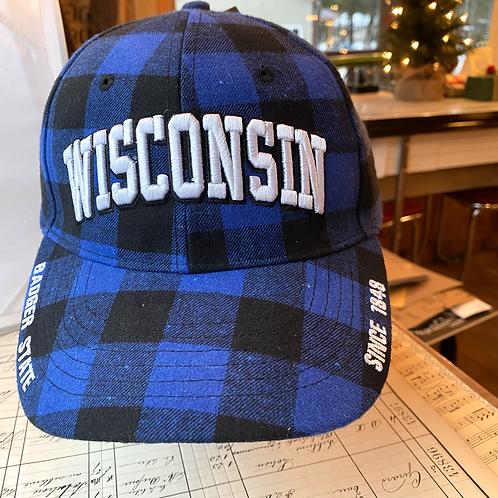 Wisconsin Blue Flannel Cap