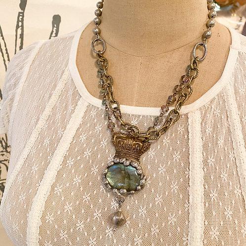 Crowned Labradorite Necklace