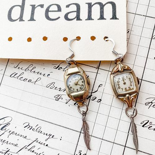 Vintage Wristwatch Earrings
