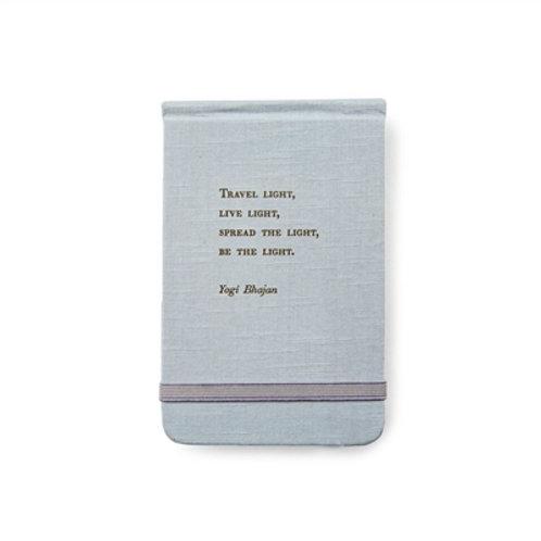 Yogi Bhajan Fabric Notebook