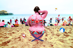 BIG GIRL ON THE BEACH