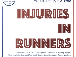Injuries in Runners - Article Review