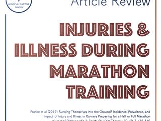 Injuries & Illnesses During Marathon Training