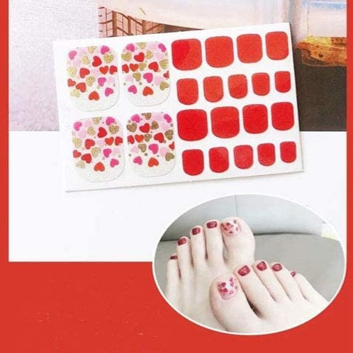Happy Hearts Toenail Decal