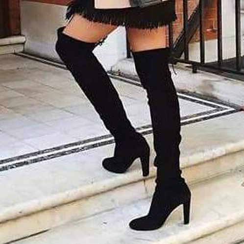 Over the Knee  Lace Up  High Heel Boots