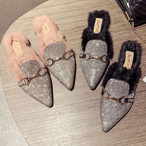 Fur Fluffy Mule Women Flat Slip-On