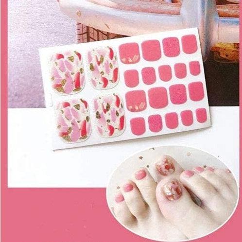 Pink Geod Toenail Decal