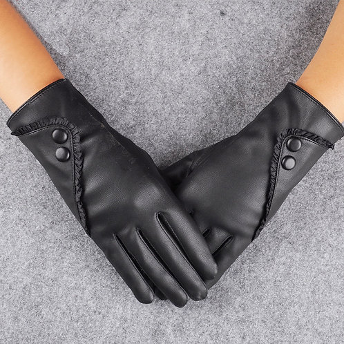 Ladies Classy Black Insulated  Winter Gloves