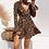 Thumbnail: Leopard Print Boho Beach Party Dress