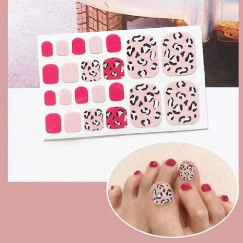 Pink Cheetah Toenail Decal