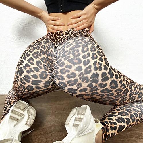 Leopard Print High Waist Booty Enhancing Yoga Pants