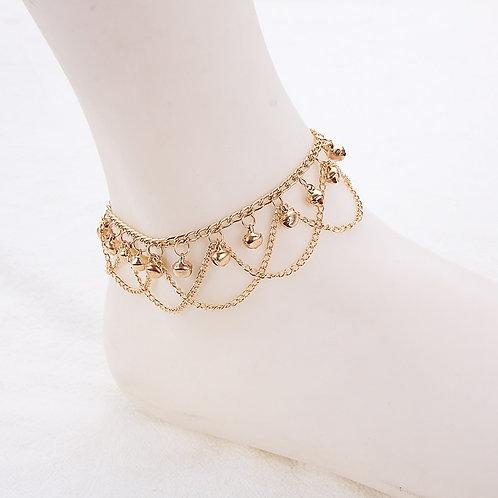 Gold Bell Tassel Anklets for Women Charm  Ankle Bracelet