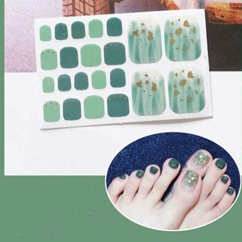 Green Dreams Toenail Decal