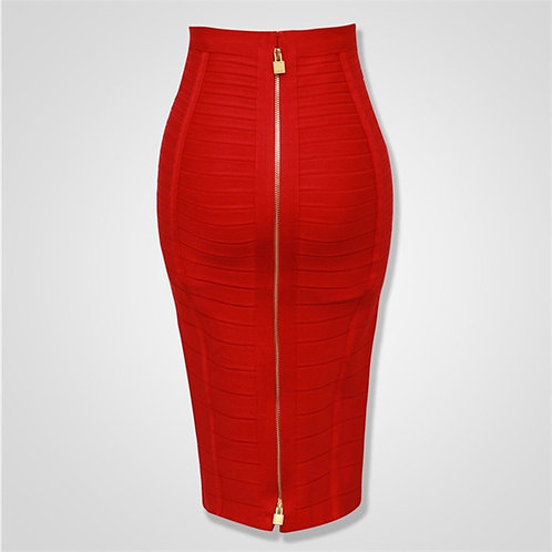 12 Colors Sexy Solid Zipper Bandage  Pencil Skirts