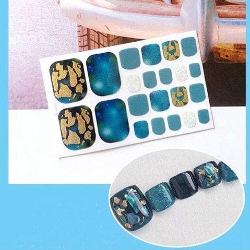 Turquoise Geod  Toenail Decal