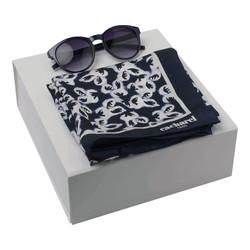 Kit óculos de sol e lenço