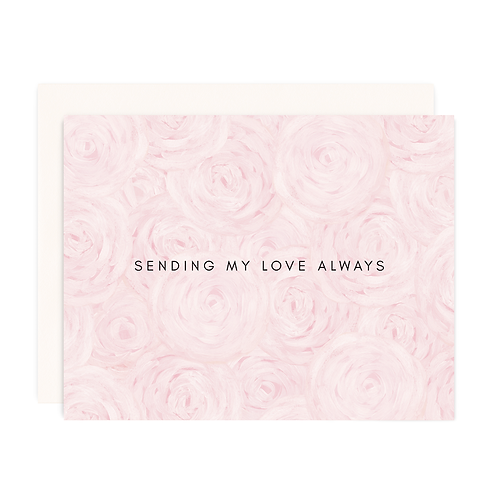 LOVE & PEONIES GREETING CARD