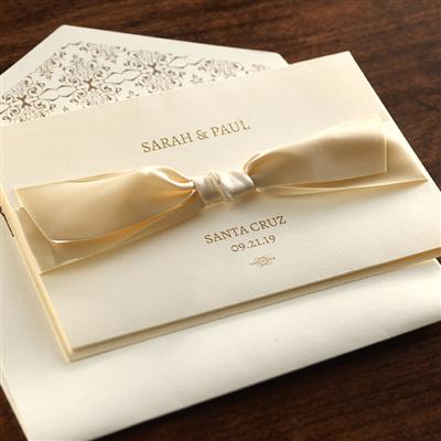 Tri-Fold Invitation w/Satin Ribbon