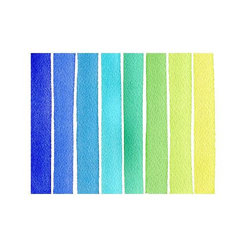 STRIPE NOTE CARDS - OCEAN