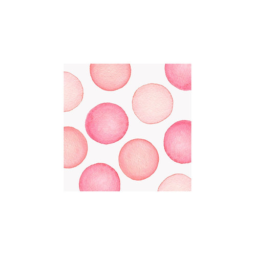 JUMBO DOTS NOTE CARDS - PINK
